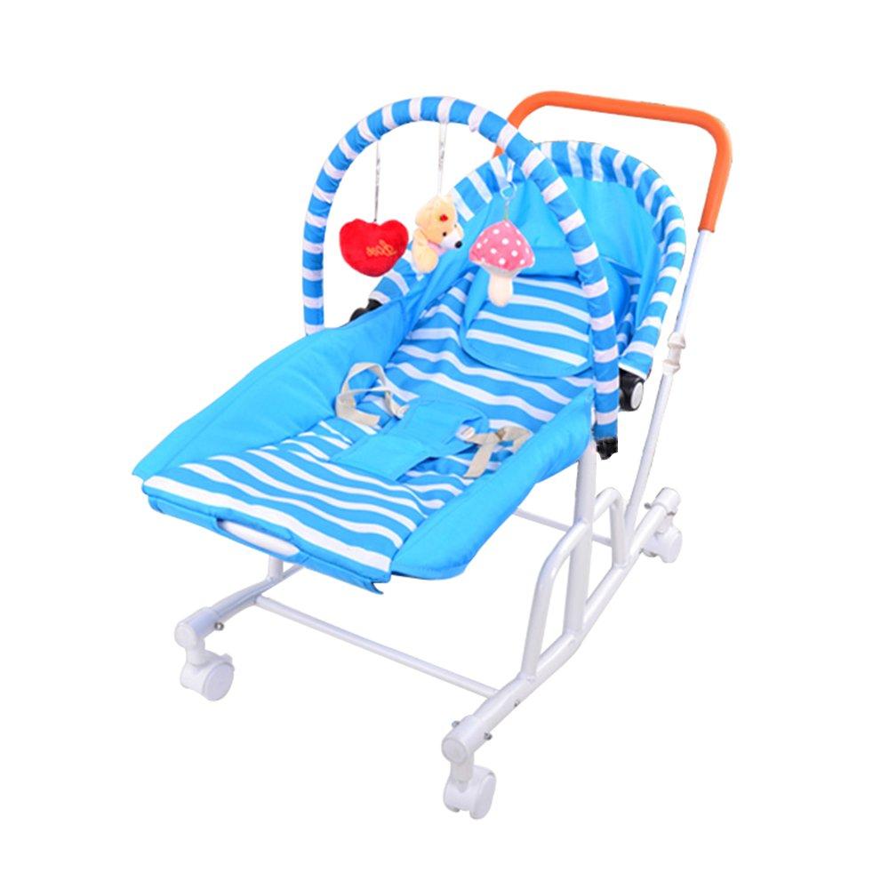 ベビーカー、普遍的な車輪新生児の快適さの椅子を促進することができます環境材料シェーカークレードルロッカー66 * 40.6 * 76センチメートル (色 : A)  A B07G39732H
