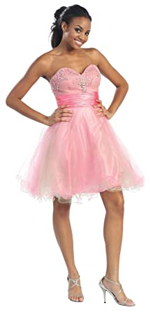 US Fairytailes Strapless Cocktail Party Junior Prom Dress -2651 at ...
