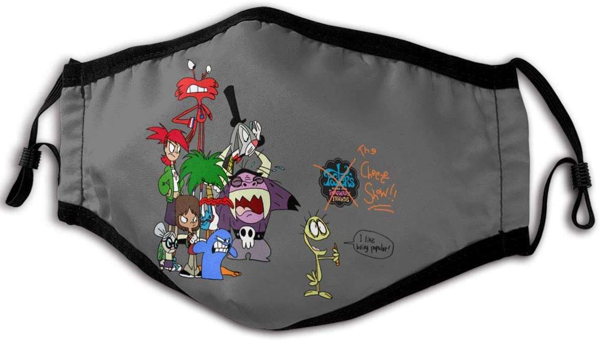 Qwertyi Foster's Home for Imaginary Friends Unisexs Anti Dust Face Mouth Cover Reusable Bandana