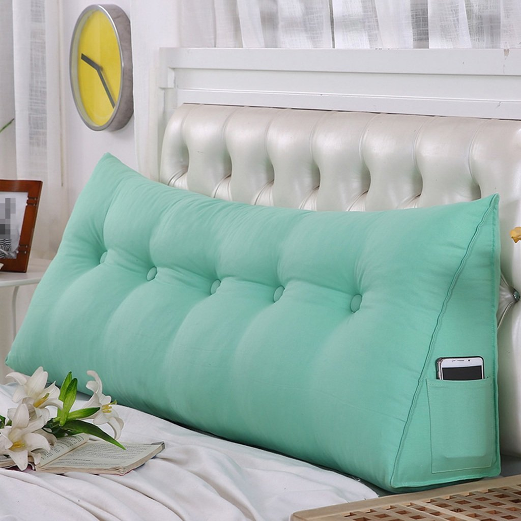 BZ STORE Double PILLOWS Pillows, triangle bed Soft Pack bed & queen bed ISBO wash ller return cover 100 50 20cm Washable, sales (Color # 1, Size: 1355020cm)