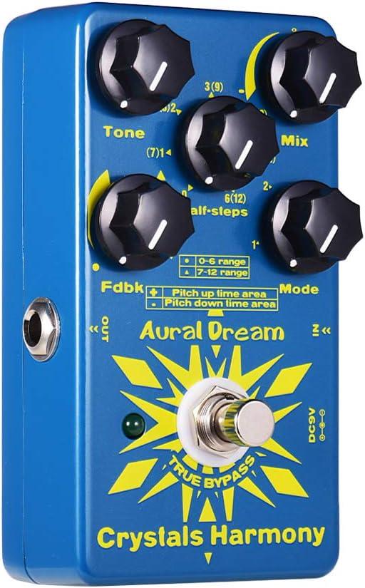 Muslady Aural Dream Pedal de Efectos de Guitarra Digital Armonía de Cristales Creación de Partículas de Cristal Efectos True Bypass Efectos únicos