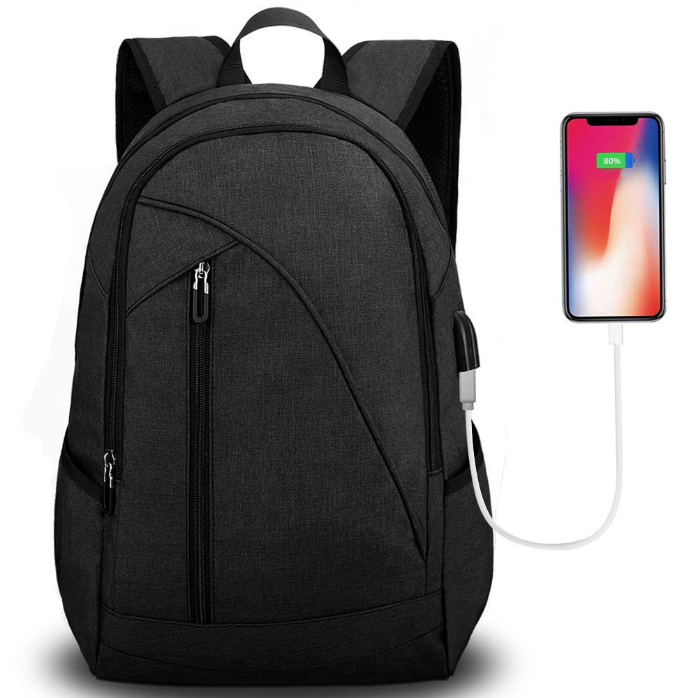 21bb74c4b527 Tocode Unisex Laptop Backpack for School & Travel, Fits 17'' Computer  Durable Casual Anti Theft Backpack Travel Bag, with USB Charging Port and  ...