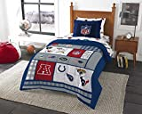 8pc NFL Twin Bedding Set Football AFC vs NFC Comforter and Multi Team Anthem Sheets