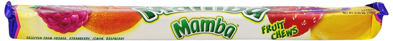 MAMBA Brick Stick Pack Fruit Chews, 3.53 Ounce (Pack of 24)