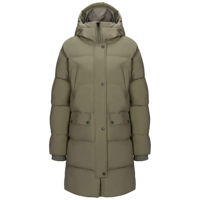 CAMEL Damen Daunenjacke mit Kapuze und Daunenjacke, Winddicht, für Outdoor und Winter