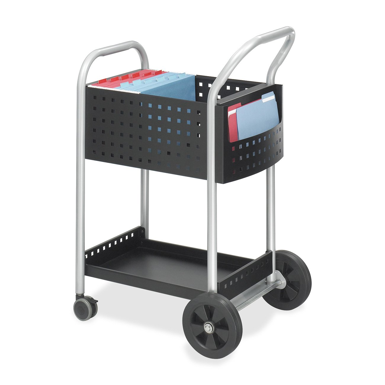 Safco Products Scoot Legal Size Mail Cart 5238BL Black, Swivel Wheels by Safco Products