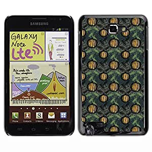 ZECASE Funda Carcasa Tapa Case Cover Para Samsung Galaxy Note I9220 No.0002176