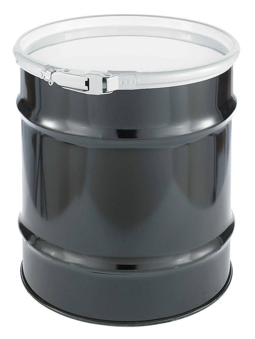 Transport Drum, Open Head, 30 gal., Black
