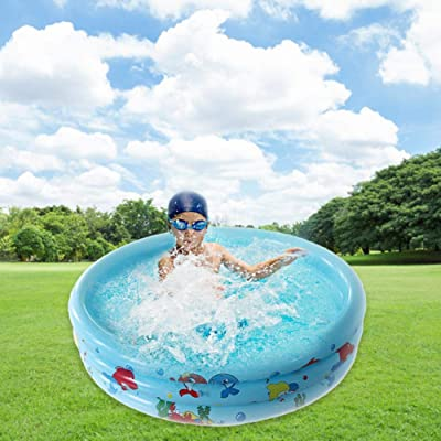 Kaigeli Inflatable Swimming Pool,Swim Center Paradise Inflatable Pool Safe Summer Water Party Supply for Baby Kids Adult: Home & Kitchen