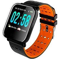 Relógio Inteligente Smart Bracelete Batimentos e Pressão A6 - Laranja