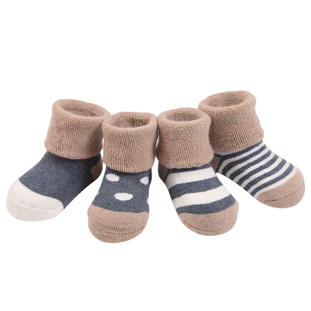 TININNA Autunno e Inverno Caldo Carino Addensare Calzini del bambino tubo Calzini Calze di cotone per bambino Rosa XS