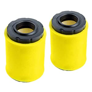 HOODELL 2 Pack 796031 Air Filter + Pre Cleaner for Briggs Stratton 591334 594201 797704, Husqvarna YTH22V46, John Deere D100, Pro Performance for Lawn Tractor and More