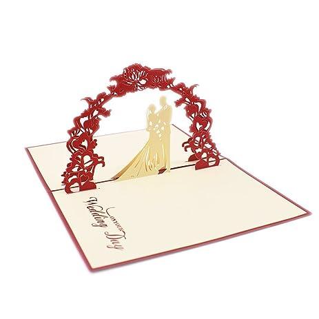 Amazon nret handmade 3d wedding greeting card marriage nret handmade 3d wedding greeting card marriage anniversary card gift cards funnyrose m4hsunfo