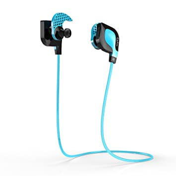 Auriculares Bluetooth 4.0,Dylan Casco Deportivo Inalámbrico Manos Libres con NFC Portátil Wireless Headphone para iphone Smartphone Dispositivos(Azul): ...