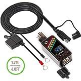 Amazon.com: Adaptador SAE A USB con voltímetro, yonhan ...