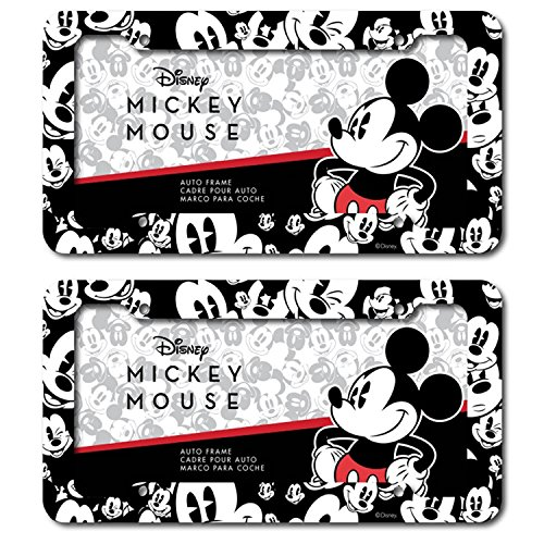 Chroma Graphics Disney Mickey Mouse Expressions Emotions Plastic License Plate frame Universal (Chroma License Plate)