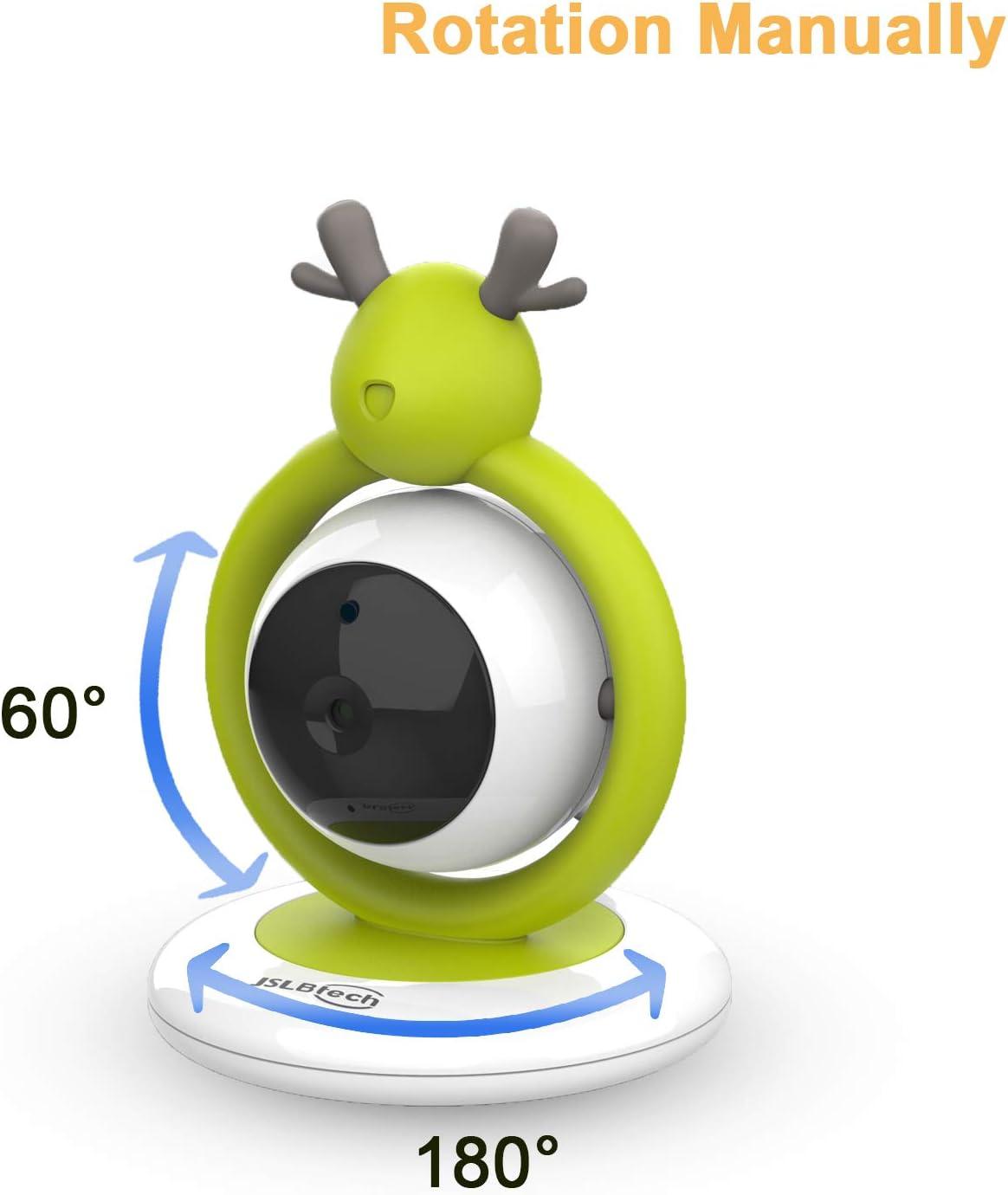 JSLBtech Babyphone Moniteur vid/éo b/éb/é avec /écran LCD 4,3 zoom avant d/étection de temp/érature /économie d/énergie//Vox vision nocturne automatique Audio Bidirectionnel