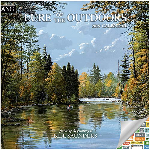 Lang Lure of The Outdoors Calendar 2019 Set - Deluxe 2019 Bill Saunders Lang Nature Landscapes Scenic Wall Calendar Bundle with Over 100 Calendar Stickers (Scenic Landscapes)