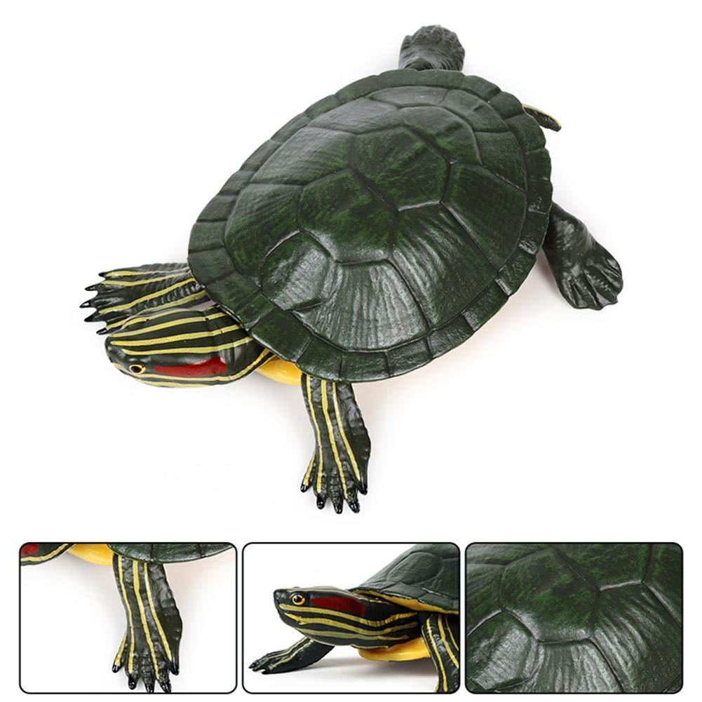 Slider Turtle Schildkr/öte Spielzeug PVC Dschungel Tierfiguren Mini Tiere Waldtiere Figuren Miniatur 5,5 Zoll