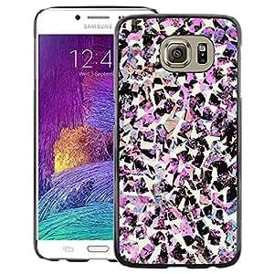A-type Arte & diseño plástico duro Fundas Cover Cubre Hard Case Cover para Samsung Galaxy S6 (Birds Art Fashion Pink Decorative)