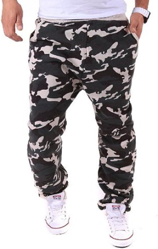 Pantalones de chándal Estilo Militar Camuflaje blanco L : Amazon ...