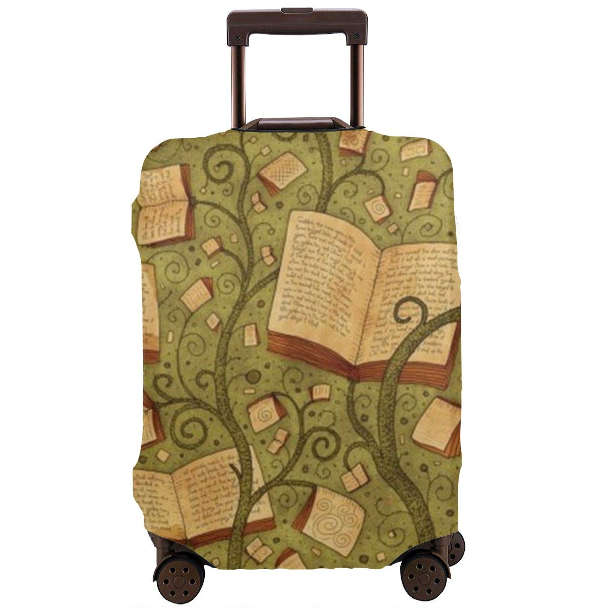 JHNDKJS Branch Plants Text Texture Travel Luggage Cover Baggage Suitcase Protector Fit for 12-18 Inch Luggage