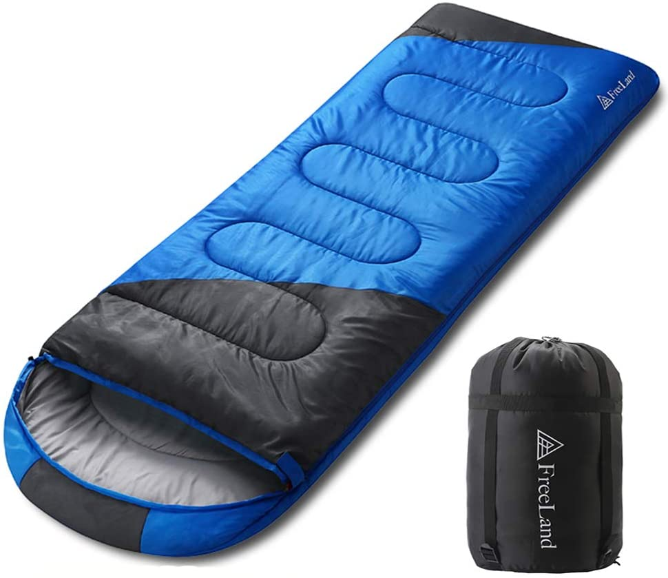 FreeLand Camping Sleeping Bags-3 Seasons Warm & Cold Weather, Lightweight Waterproof for Adults & Kids, Camping Gear Equipment for Traveling & Outdoors
