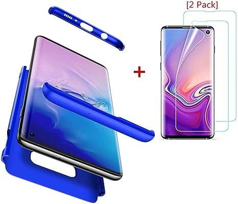 AILZH Compatibles para Funda Samsung Galaxy S10e Carcasa+[2*Protección Flexible de Pantalla HD] 360 Grados Caja protección de cáscara Dura Anti-Shock Caso Mate Bumper Case Cover(Azul): Amazon.es: Electrónica