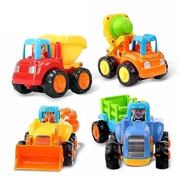 Niños Meses4 Con Para ElementosTractorRaspadorHormigonera Y Early Volquete Huile 18 Camión Education Juguetes De lJTcFK1