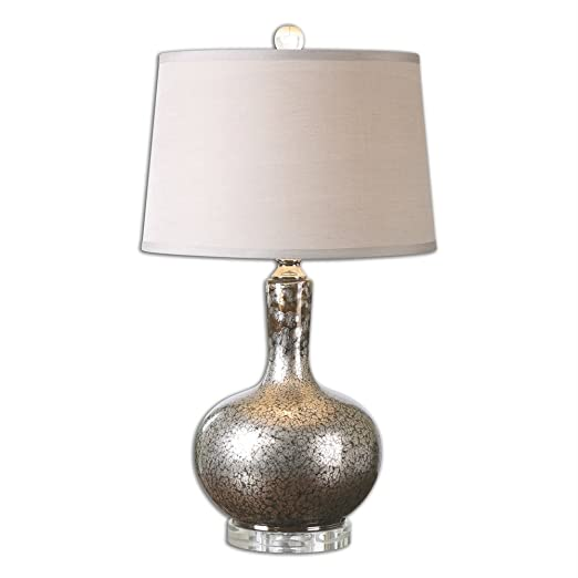 Amazon.com: Aemilius - Lámpara de mesa de cristal gris: Home ...