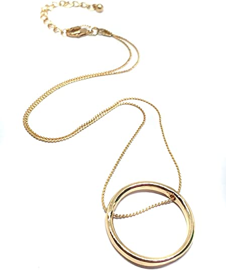 Eclectic Shop Uk Eternity Infinity Circle Rose Gold Karma Ring Threaded 18 Chain Necklace Ladies Fashion Pendant Amazon Co Uk Jewellery
