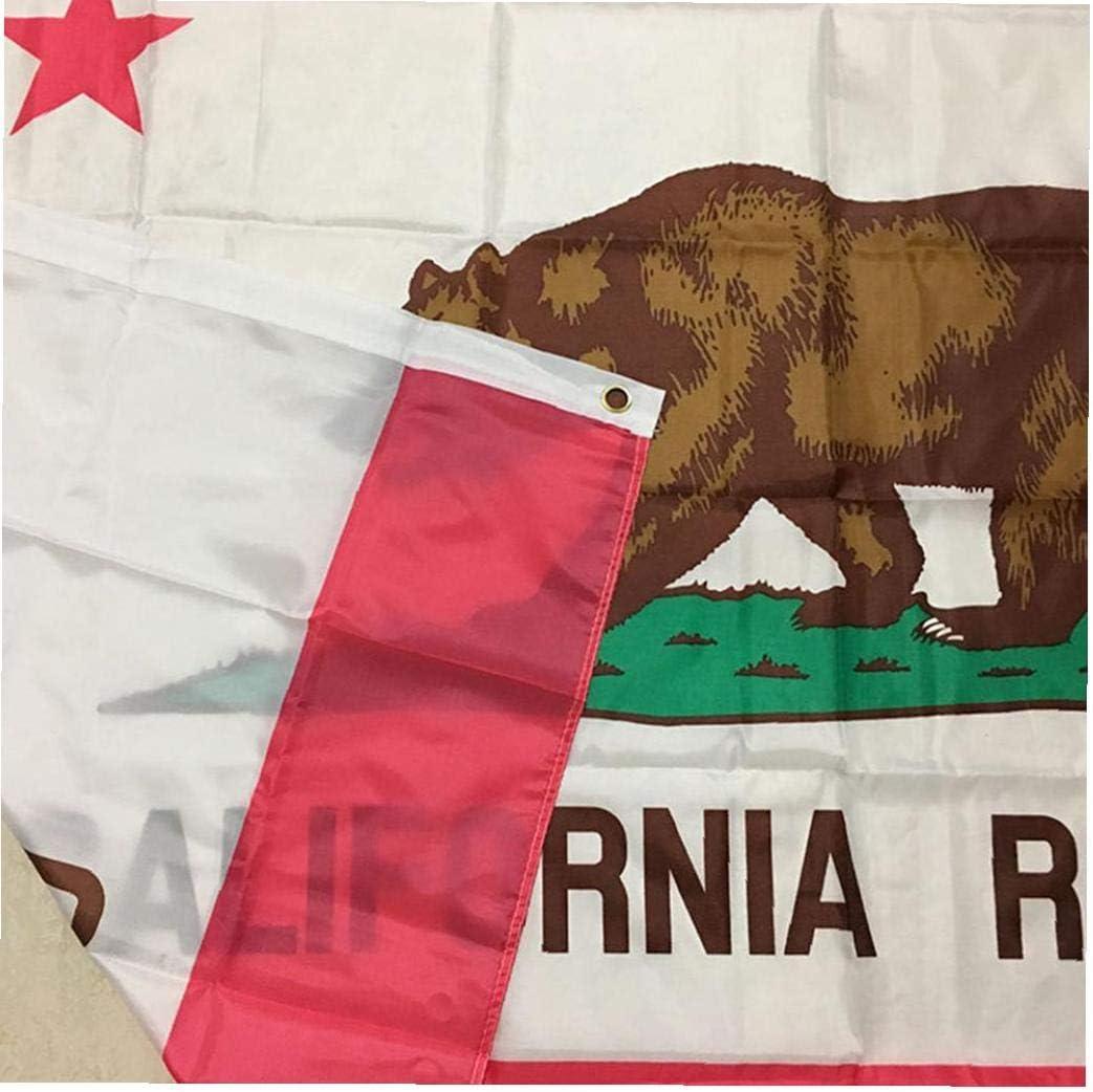 fedsjuihyg New California Republic Flag 3X5Ft Banner f/ür Stab-Partei-B/ürodekoration Polyester Leinwand Kopf mit Metall Grommet Doppelkopf Bear Flag 1Pc