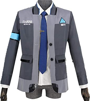 Amazon Com Mister Bear Cosplay Costume For Detroit Become Human Connor Rk800 Clothing