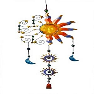 Continental Art CAC10183 Sun Metal Wind Chime