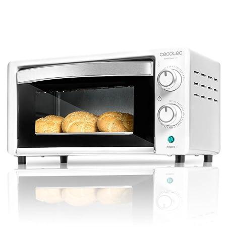 Cecotec Horno Conveccion Sobremesa Bake&Toast 490. Capacidad de 10 litros, 1000 W, Temperatura hasta 230ºC y Tiempo hasta 60 Minutos, Perfecto para ...