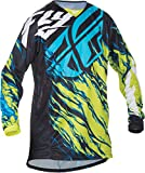 Fly Racing Unisex-Adult Kinetic Relapse Jersey Lime/Blue XX-Large