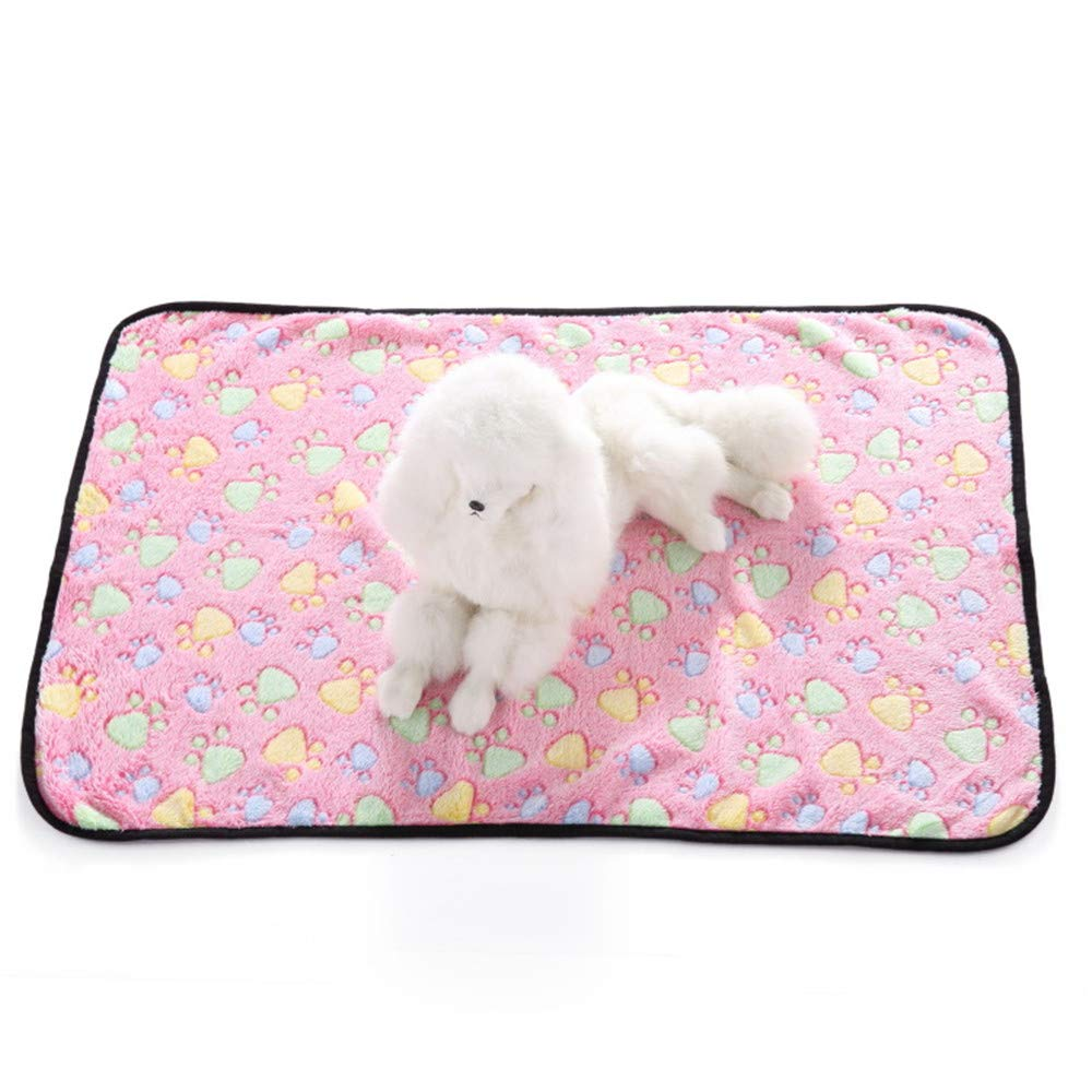B Medium B Medium Dog Blanket Super Soft and Fluffy Premium Cat Puppy Throw Blanket, Appealing and Cute Paw Prints Design,B,M