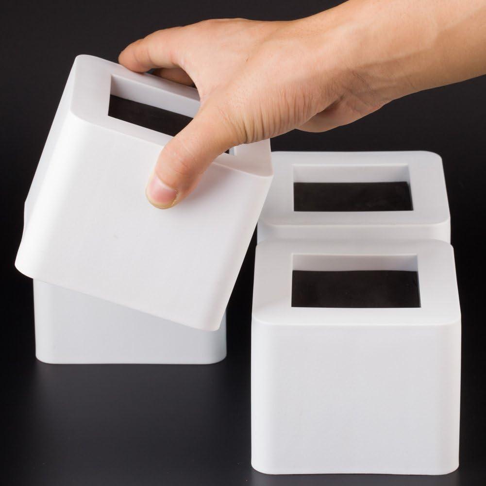 Uping Elevador de Muebles, Elevadores Ajustables para Camas, Mesas o Mobiliario, Agregue Altura de 8,5CM (4 pack, blanco)