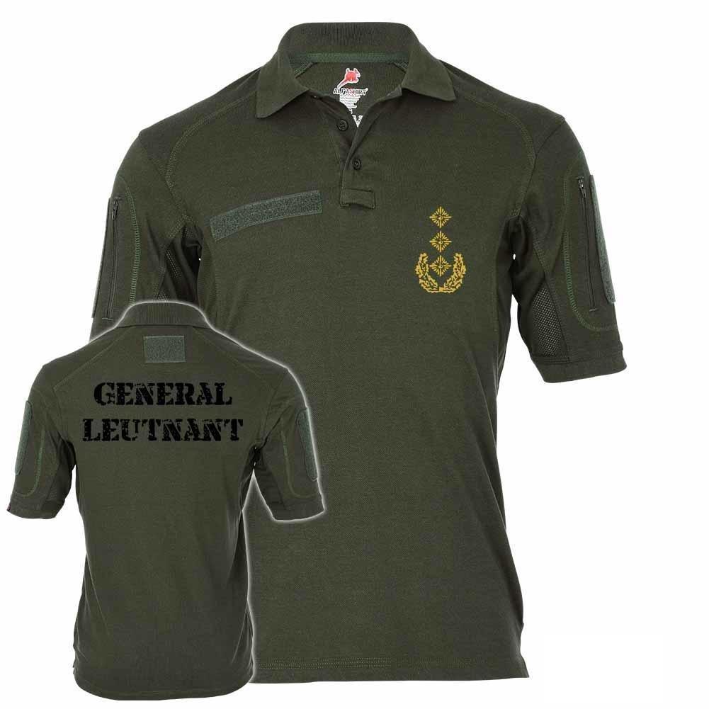 Copytec Tactical Polo Alfa General Teniente Servicio Grados BW ...