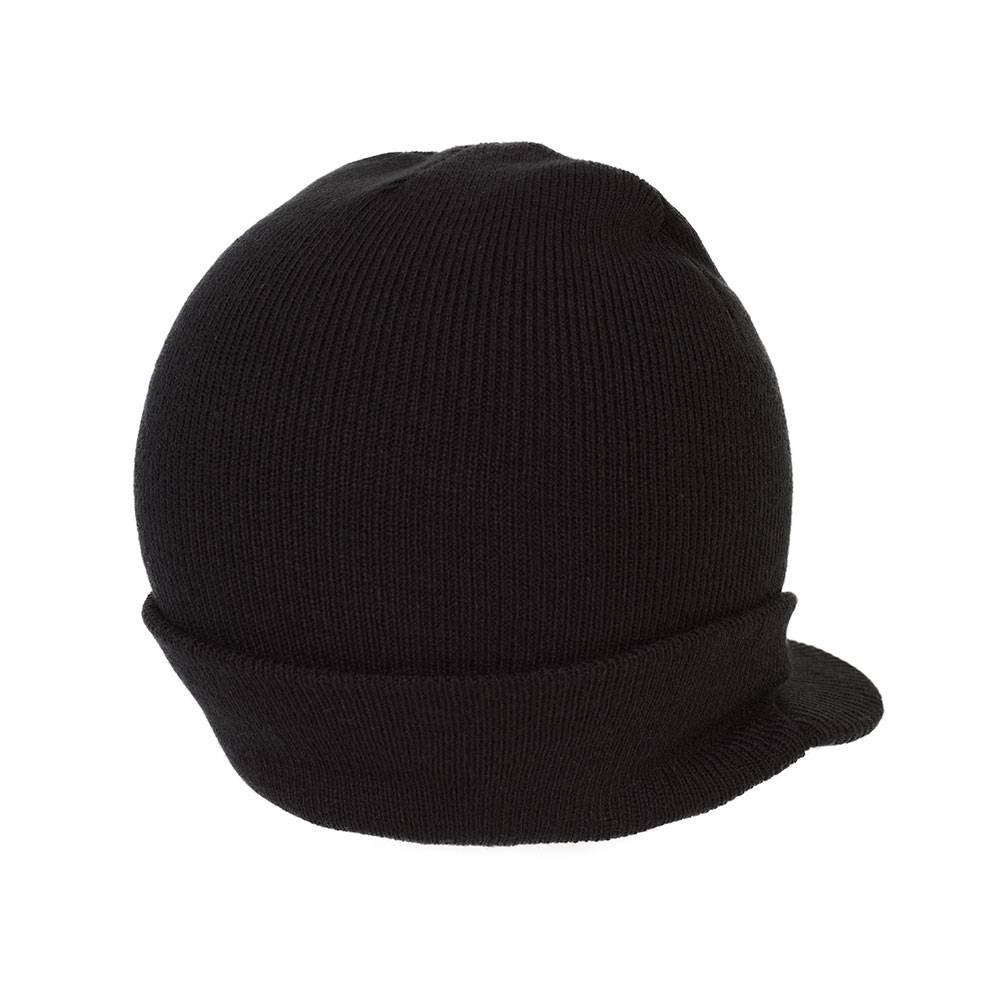 d9f48f0a95e Amazon.com  District Threads Beanie Hat with Bill Knit Cap - Black  Clothing