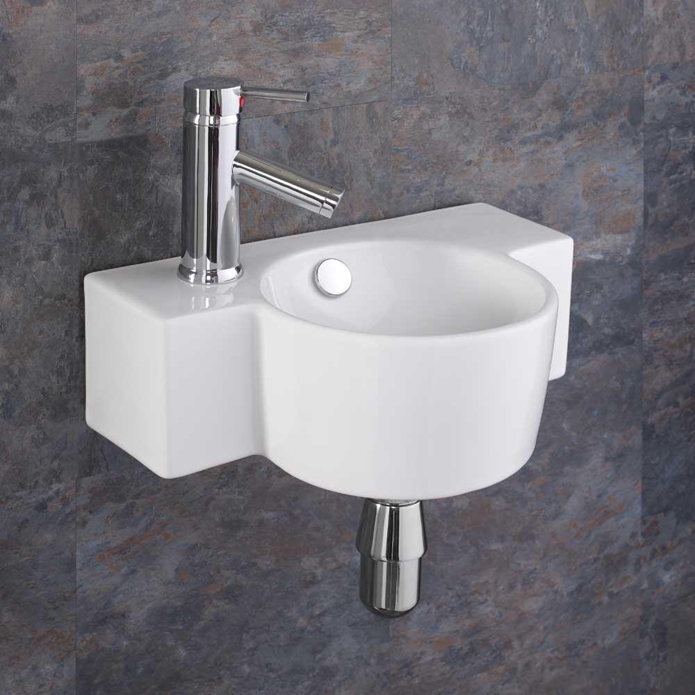 Clickbasin Space Saving Wall Hung Raguso 40.5cm X 28cm Small Basin
