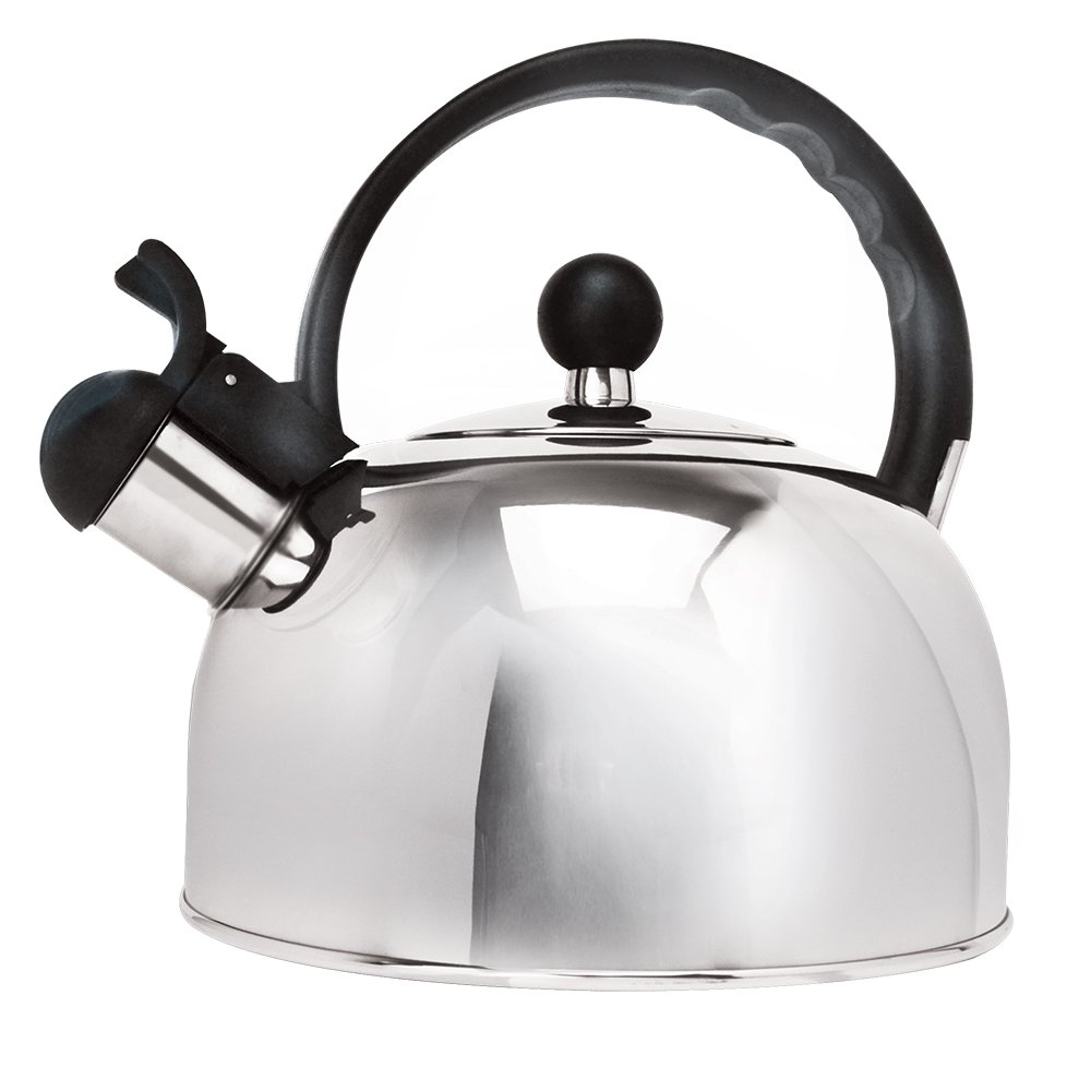 amazoncom primula stainless steel  qt whistling stovetop tea  - amazoncom primula stainless steel  qt whistling stovetop tea kettlekitchen  dining