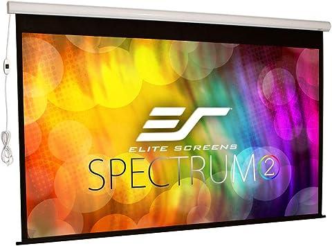 Amazon Com Elite Screens Spectrum2 120 Inch 16 9 12 Inch Drop Electric Motorized Drop Down Projection Projector Screen Spm120h E12 Home Audio Theater