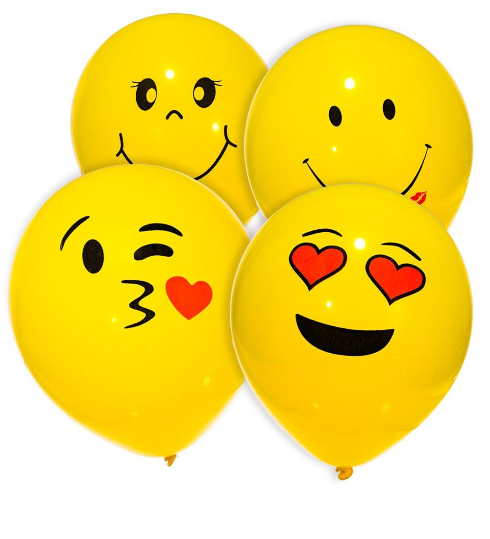 Amazon mesha latex balloons 74pcs emoji smiley face balloons 10 amazon mesha latex balloons 74pcs emoji smiley face balloons 10 inch yellow party balloons toys games voltagebd Image collections