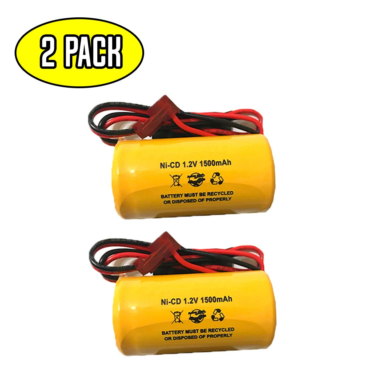 (2 Pack) ELB1P201NB Lithonia ELB0320 1.2v 1500mah NiCad Battery Pack Replacement Exit Sign Emergency Light ELB1P201N2 ELB1P2901N ELB1210N ELB1P201N ELB-1P201NB
