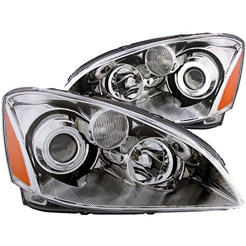 Anzo USA 121226 Nissan Altima Chrome Clear Projector with Halos Headlight Assembly - (Sold in Pairs)