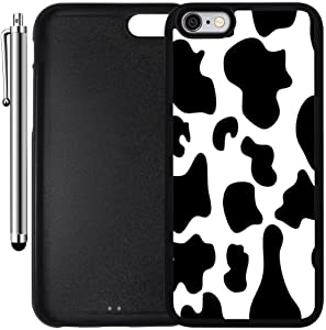 Custom Case Compatible with iPhone 6 Plus/6S Plus (5.5 inch) (Cow Print) Edge-to-Edge Rubber Black Cover Ultra Slim | Lightweight | Includes Stylus Pen by Innosub
