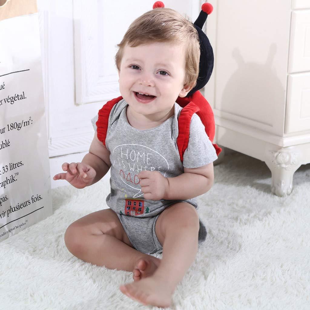 Baby Kopfschutz Pad Schutzkopf Kissen Lonshell Kleinkinder Sicherheitskissen Nacken und Schulter Fallschutz Babykissen Lagerungskissen f/ür Baby Walking und Spielen 30x14x2cm Blau, S