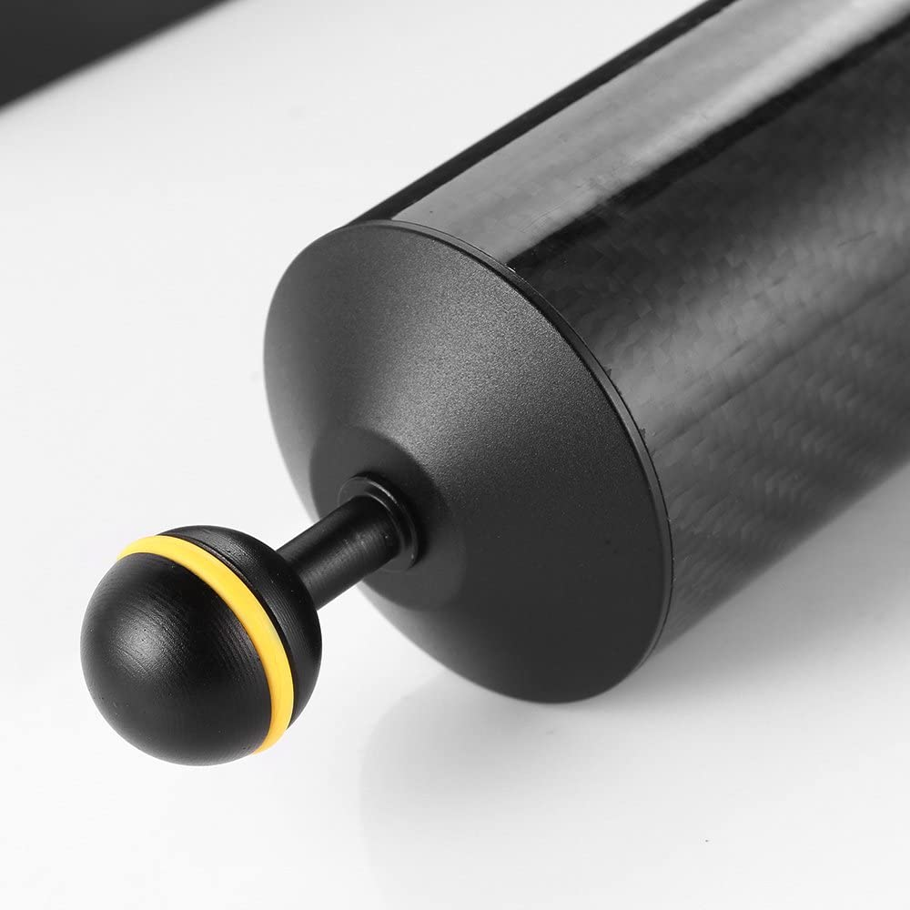 Run Shuangyu 12in Carbon Fiber 1in Dual Ball Floating Arm for Buoyancy Underwater Camera System
