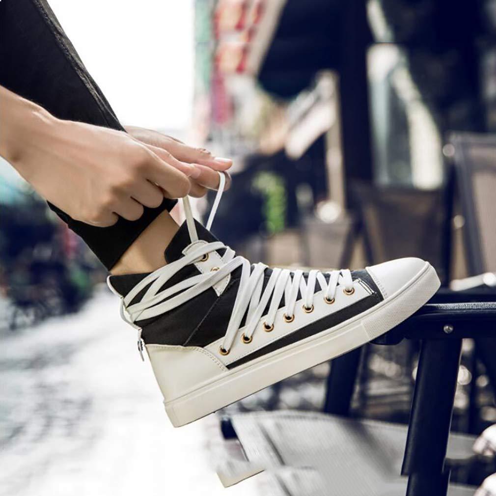 Hy Männer Lässige Schuhe Frühling Herbst Persönlichkeit Lace-Up Leinwand Leinwand Leinwand Schuhe Casual Turnschuhe Tide Flow Stylischen Deck-Schuh Gelb Grün Schwarz,C,39 39fe22